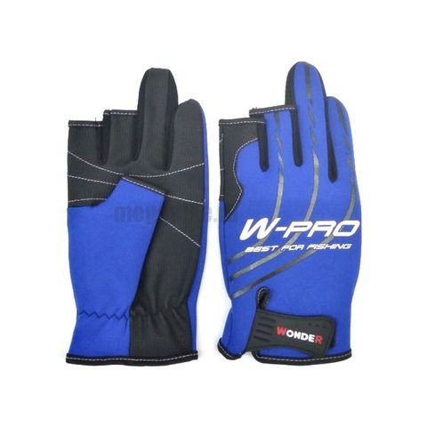 Перчатки Wonder синие с пальцами WG-FGL / размер М
