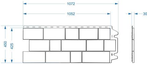 Фасадная панель Деке Скала 1052х425 мм Горный хрусталь