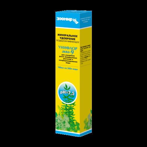 Зоомир Унифлор аква-9 минеральное удобрение для аквариумных растений подщелачивающее