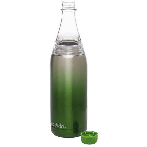 Термобутылка Aladdin Fresco (0,6 литра), зеленая
