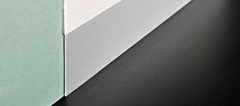 Алюминиевый плинтус Progress Profiles Proskirting Line 60*2.5 мм, Серебро