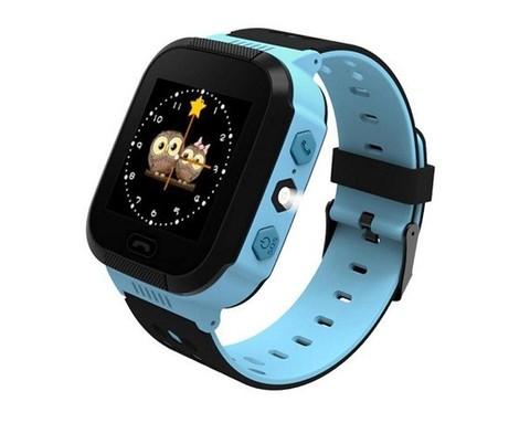 Умные часы детские Q528 | чёрно-голубые
