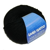 Пряжа Lana Gatto Maxi Soft 10008 черный