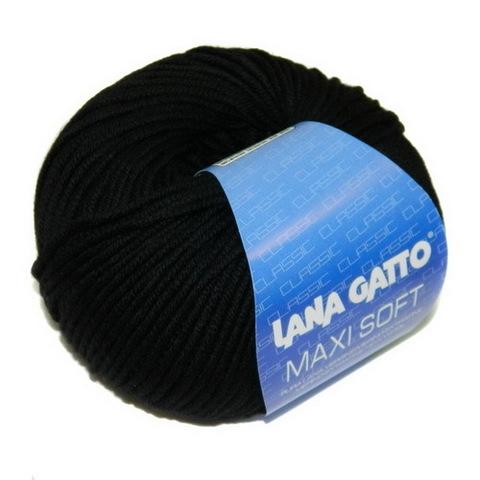 Пряжа Lana Gatto Maxi Soft 10008 черный