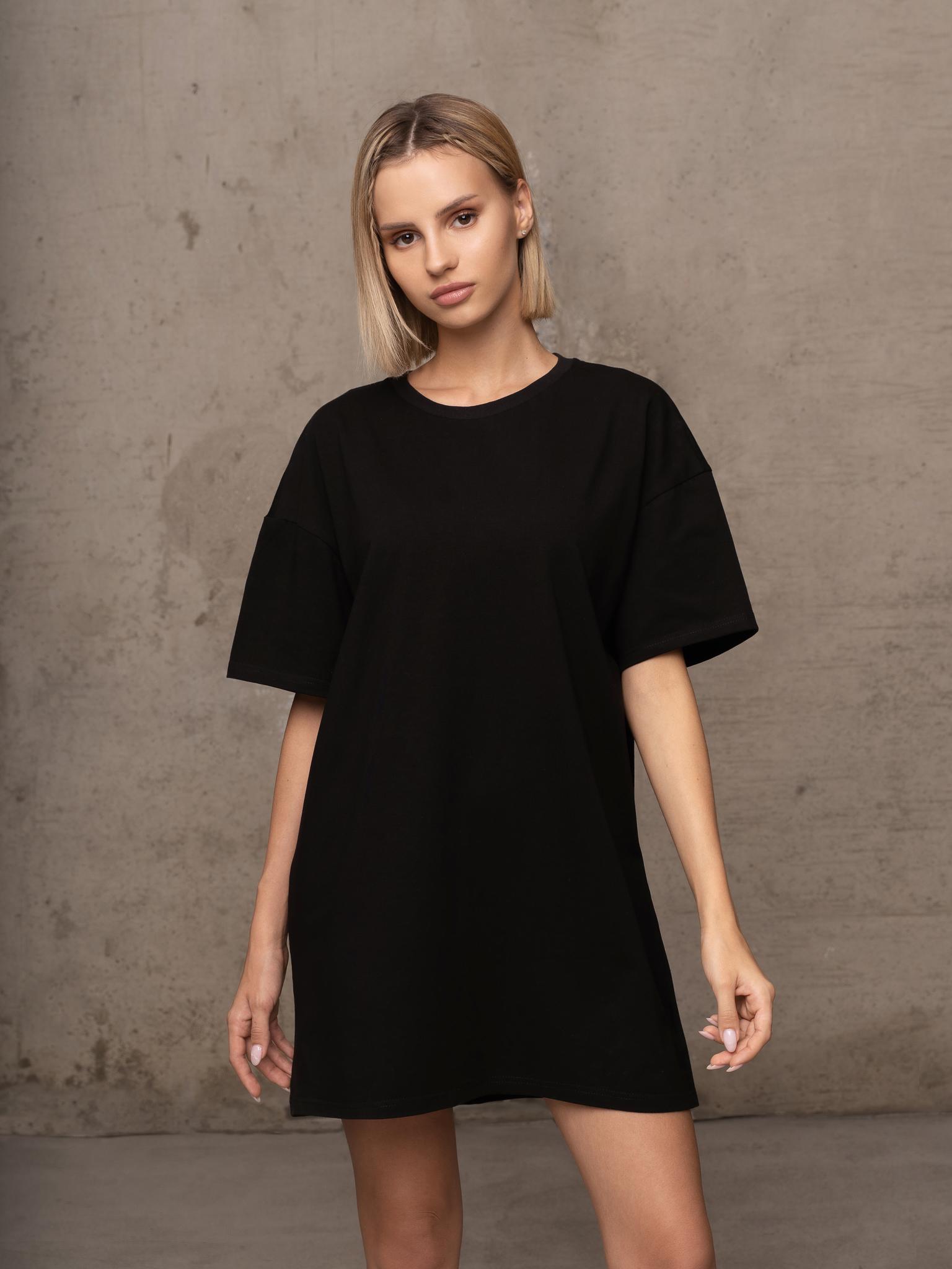 Платье-Футболка Basics Seven, Черный