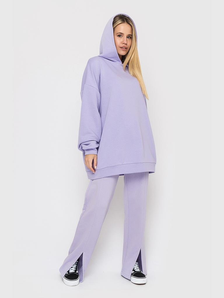 Худи трикотажное лиловое YOS от украинского бренда Your Own Style