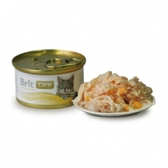 Консервы для кошек, Brit Care, куриная грудка с сыром