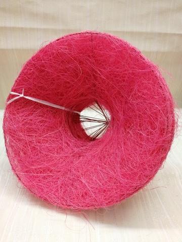 Каркас для букета гладкий (сизаль, диаметр: 15 см) Цвет: розовый