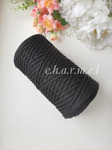 Черный Полиэфирный шнур 2 мм