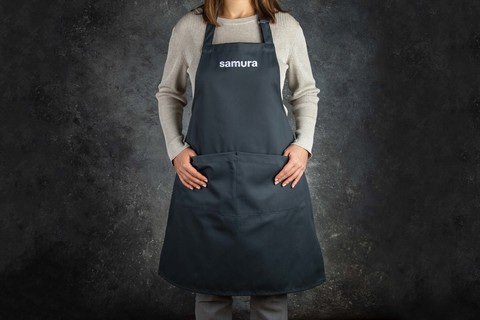 Кухонный фартук серый Samura Малый SAP-02G/K