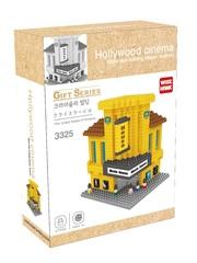 Конструктор Wisehawk & LNO Дом кино кинотеатр Голивуд 477 деталей NO. 3325 Hollywood cinema Gift Series