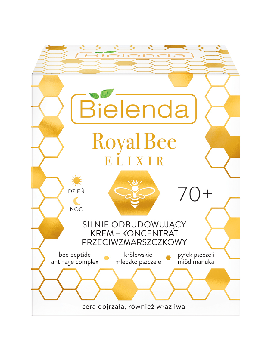 ROYAL BEE ELIXIR Крем для лица сильно восстанавливающий против морщин 70+, 50мл