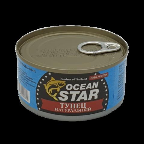 Тунец натуральный филе OCEAN STAR, 185 гр