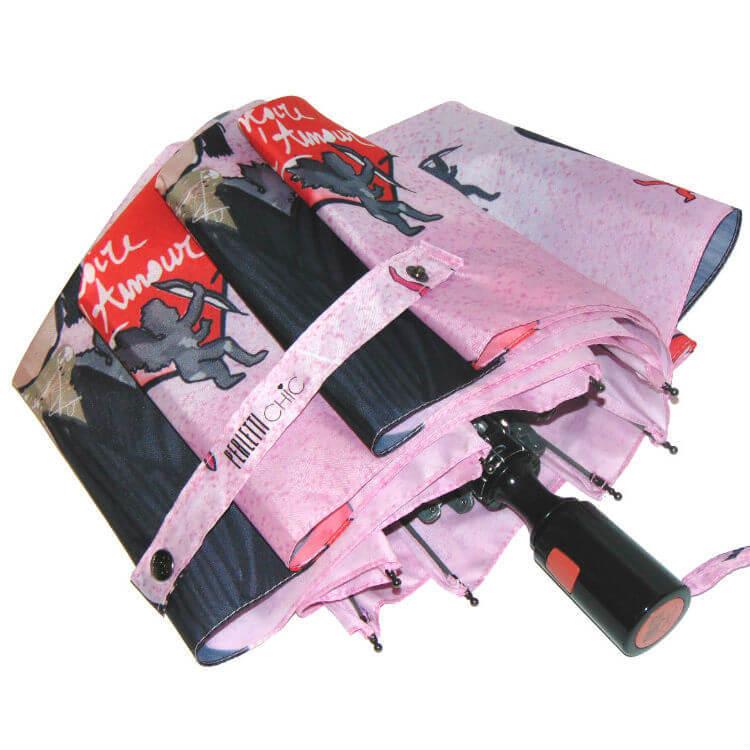 Зонт складной Perletti Chic 21195-1 Histoire d'Amour
