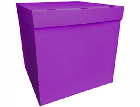 Коробка для воздушных шаров с персональным оформлением фуксия
