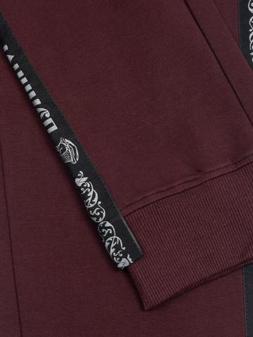 Спортивные штаны «Великоросс» цвета красного вина. Лёгкий футер