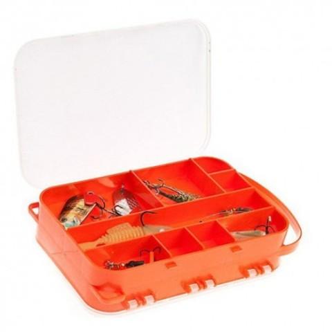 Коробка 2х-сторонняя 15 ячеек (на шею, для спиннинга)2515