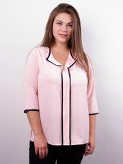 Вега. Оригінальна жіноча блуза плюс сайз. Пудра.