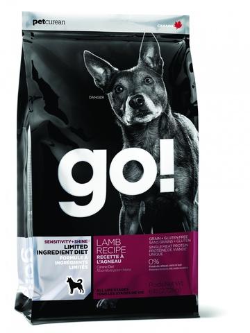 GO! Limited Ingredient Diet -для щенков и собак с ягненком для чувствительного пищеварения