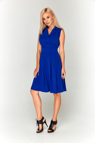 Ярко-синее платье из софта Lolly