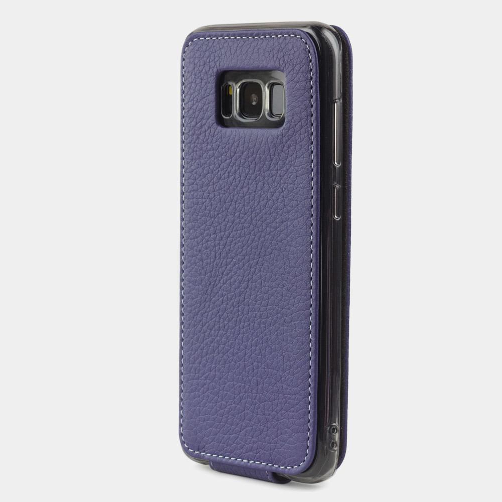 Чехол для Samsung Galaxy S8 из натуральной кожи теленка, цвета сирени