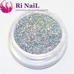 Дизайн для ногтей серебро.