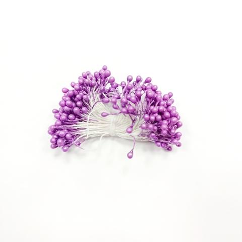Тычинки для цветов, фиолетовые, 50 шт