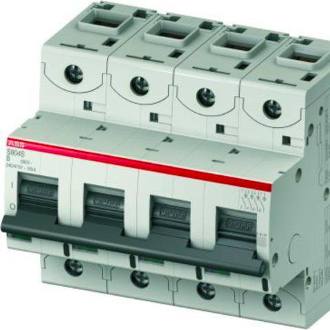 Автоматический выключатель 4-полюсный 20 А, тип  B, 25 кА S804S B20. ABB. 2CCS864001R0205