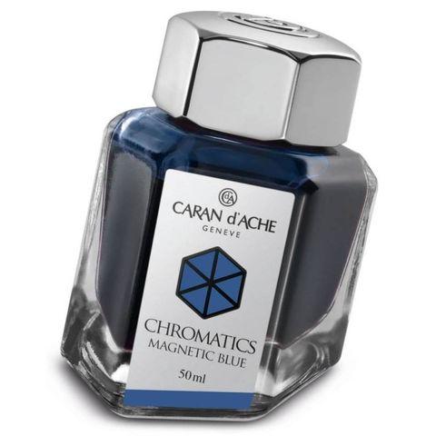 Флакон с чернилами Carandache Chromatic (8011.149) Magnetic blue для перьевых ручек 50мл