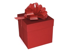 Коробка для подарков Красная  15,5 см*15,5 см*15,5 см