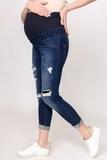 Джинсы для беременных (SLIM) 04008 синий