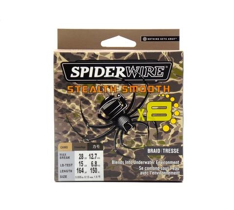 Плетеная леска Spiderwire Stealth Smooth 8 Braid Камуфляжная 150 м. 0.13 мм. 12,7 кг. (1515750)