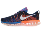Кроссовки Мужские Nike Air Max 2014 Flyknit Black Blue Orange