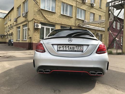 Спойлер крышки багажника для Mercedes C-class W205