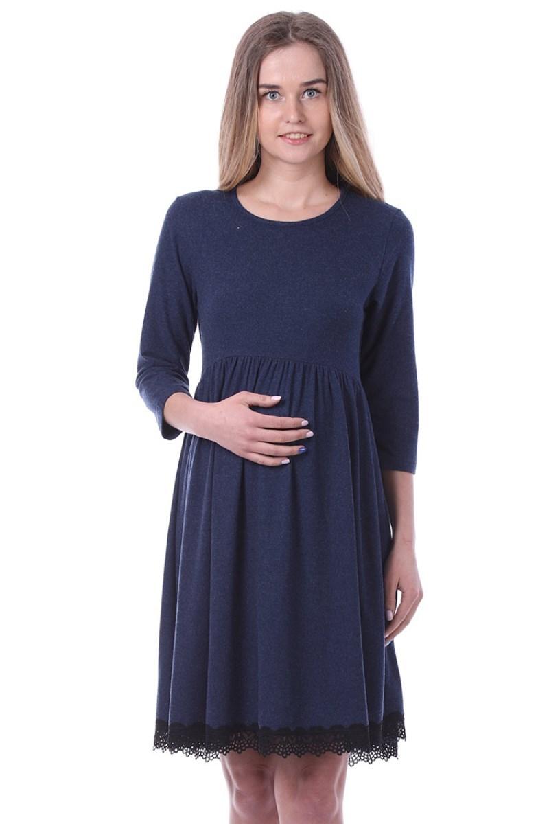 Платье для беременных 09961 синий