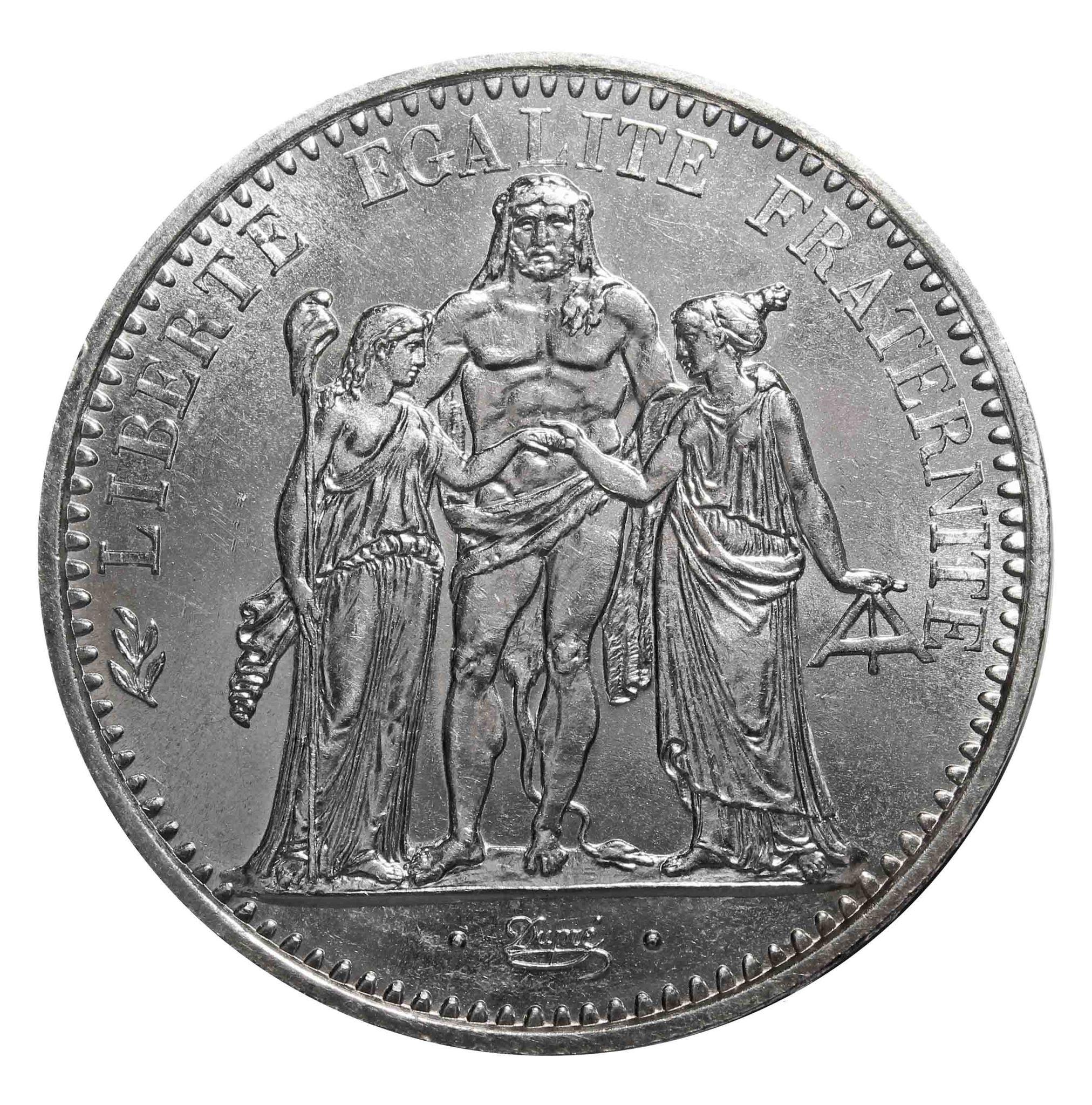 10 франков Франция. 1972 год. Серебро. UNC