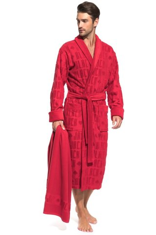 Махровый халат и полотенце Black Jack в подарочной коробке (PM F