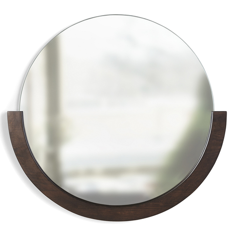 Зеркало настенное Mira D57 см темное дерево