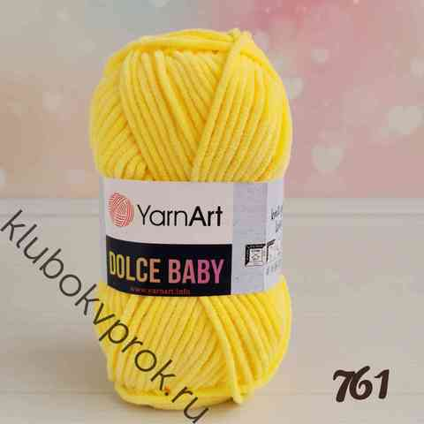 YARNART DOLCE BABY 761, Желтый