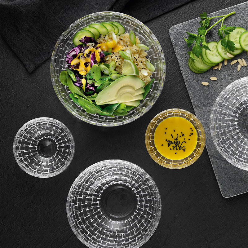 Хрустальные салатники большие круглые Bossa Nova Nachtmann