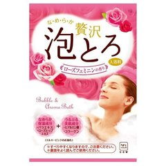Пенящаяся соль для ванны с коллагеном и гиалуроновой кислотой Роскошная роза 30 гр