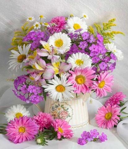 Алмазная Мозаика 40x50 Яркий букет цветов (арт. GA72995)