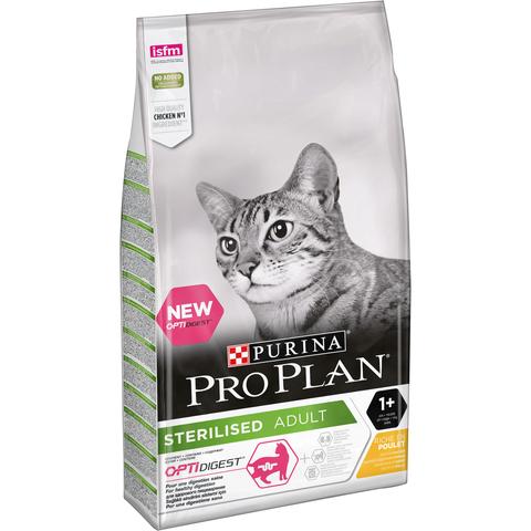 Purina Pro Plan (10 кг) Sterilised feline rich in Chicken dry стерилизованных кошек с курицей