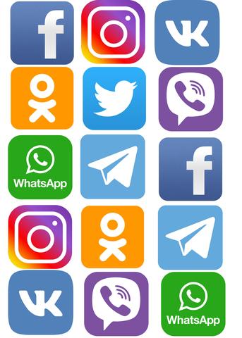 Печать на вафельной бумаге, Социальные Сети 2