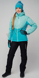 Женский утеплённый прогулочный лыжный костюм Nordski Montana Sky-Aquamarine 2020 с лямками