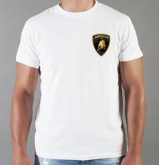 Футболка с принтом Ламборджини, Ламборгини (Lamborghini) белая 003