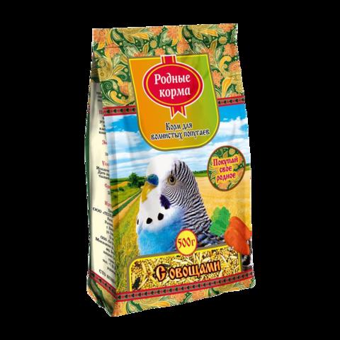 Родные корма Сухой корм для волнистых попугаев с овощами