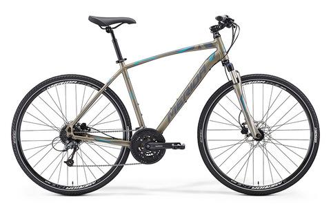 Merida Crossway 300 (2015)серый с голубым