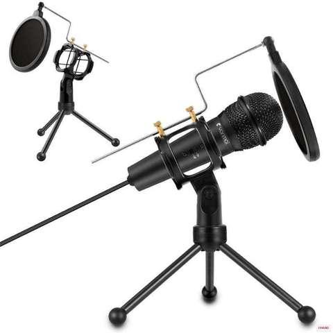 Стойка для микрофона настольная с поп фильтром