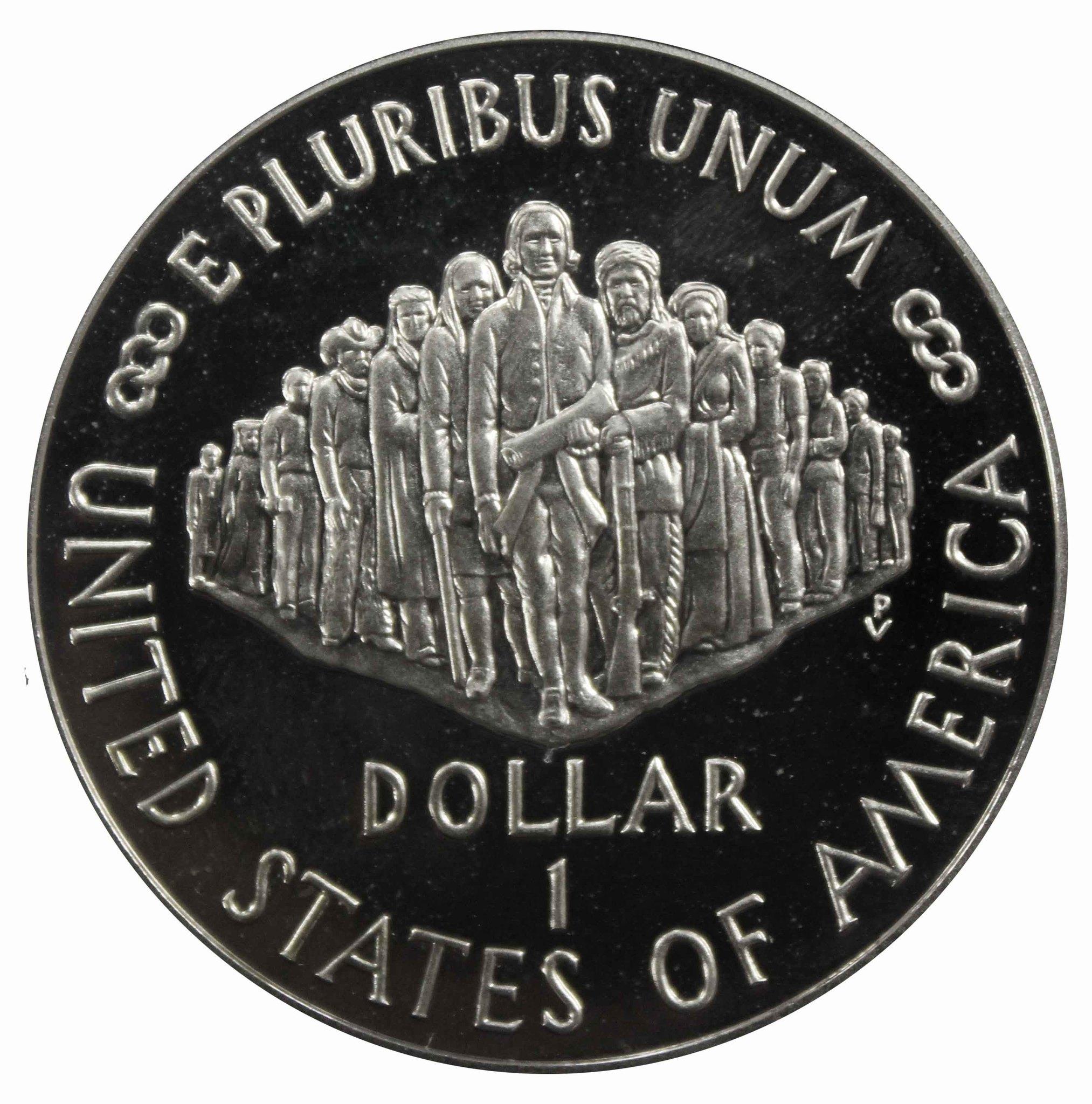 1 доллар 1987 (S) (200-летие конституции США) PROOF Серебро